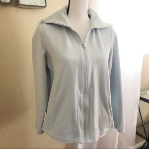 Eileen Fisher | zip up organic cotton sweatshirt L